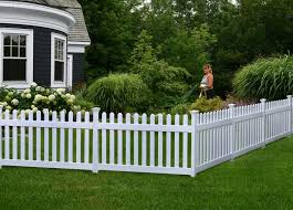 36in High Newport Vinyl Picket Fence W Post And No Dig Steel Pipe Anchor Kit