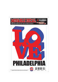 Philly Love Auto Decal Red 16370788