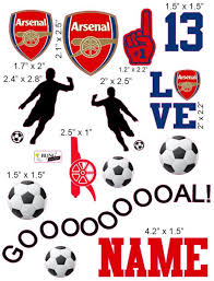 Arsenal Soccer Club Cranial Band Decoration From High Quality Vinyl For Baby Helmets