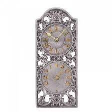westminster wall clock thermometer