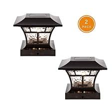 Noma Solar Post Lights Waterproof Outdoor Cap Lights For 4 X 4 Wooden Or Vinyl Posts Deck Patio Garden Decor Or Fence Warm White Led Lights 2 Pack On Galleon Philippines
