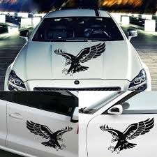 New Auto Decoration Door Hood Cover Car Stickers Reflective Vinyl Eagle Decal Wish