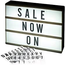 led light box cinematic message board