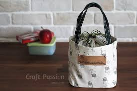 lunch box bag free sewing pattern