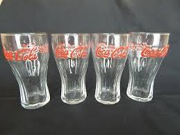set of 2 vintage coca cola glasses e