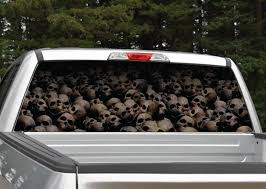 Pile Of Skulls Rear Window Graphic Decal Miller Graphics