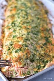 baked salmon recipe with parmesan herb
