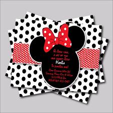 14 Unids Lote Minnie Mouse Invitacion De Cumpleanos Mickey Minnie