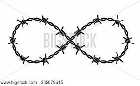 Barbed Wires Twisted Vector Photo Free Trial Bigstock