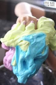make saline solution fluffy slime