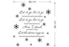 Let It Go Lyrics Disney Frozen Elsa Snowflake Wall Decals Sticker Kids Decor Art Wish