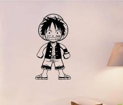 Luffy One Piece Wall Decal Vinyl Wall Stickers Decal Decor Home Decorative Decoration Anime One Piece Car Sticker Leather Bag