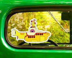 2 The Beatles Yellow Submarine Decals Sticker Bogo For Car Window Bumper Laptop Ebay
