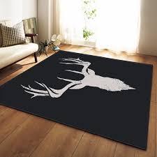 Nordic 3d Christmas Deer Carpet Bedroom Kids Play Mat Soft Flannel Memory Foam Big Area Rugs Carpet For Living Room Carpet Aliexpress