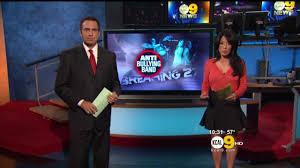 Sharon Tay 2012/10/31 KCAL9 HD; Orange top, short skirt - YouTube