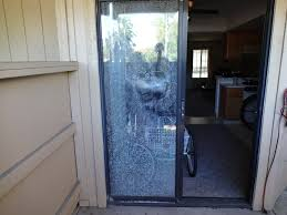 glass in broken patio door