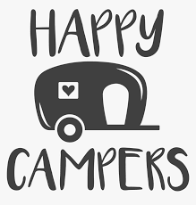 Clip Art Happy Camper Silhouette - Transparent Happy Camper Png ...