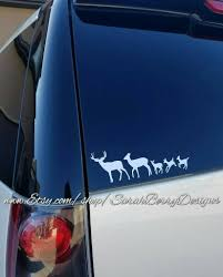 Deer On The Caboose Caboose Critters Window Decals Stick Figure Family Wyoming Back Window Sticker Yellowstone Jackson Hole Sarah Berry Designs