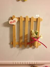 Picket Fence From Popsicle Sticks Craft Stick Crafts Popsicle Sticks Popsicle Stick Crafts
