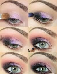 purple eye makeup tutorial for blue