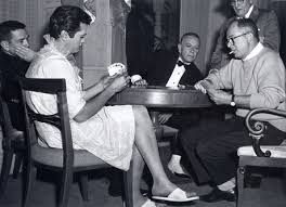 Tony Curtis playing cards with Billy Wilder & George Raft on set 'Some Like  It Hot | Photography | Limited Runs
