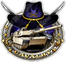 Cavalry Military Us Army Tank Sword Hat War Car Bumper Vinyl Sticker Decal 4 6 Ebay