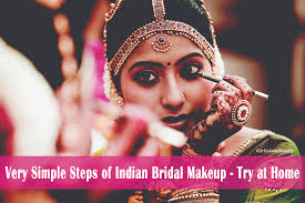 very simple steps of indian bridal