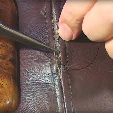 broken seam in leather upholstery