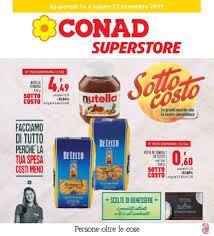Volantino Conad Superstore Sottocosto dal 14/11 al 23/11/2019