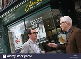 Lloyd Johnson in the doorway at 406 King's Road, London with Paul Stock  Photo - Alamy