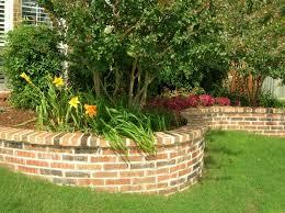 brick raised flower bed
