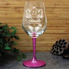 engraved personalised wine glass 450ml