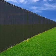 Amazon Com 6 X 50 Black Windscreen Fence Screen Mesh Privacy Scrim Fabric Outdoor Backyard Outdoor Decorative Fences Garden Outdoor
