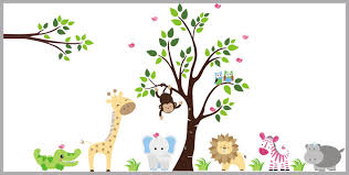 Baby Room Decals Safari Animal Decals Nursery Design Kids Room Nurserydecals4you