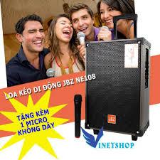 Tặng Micro] Loa Kéo Karaoke Bluetooth JBZ NE108 150W bass 2 tấc ...