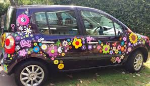 Flower Power Car Decal Stickers By Hippy Motors Vw Beetle Flower Car Stickers Makes Everyone Smile