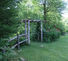 Rustic Garden Fence And Arbor Rustic Garden Fence Garden Gate Design Garden Gates And Fencing