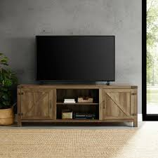 rustic tv stand smart 4k entertainment