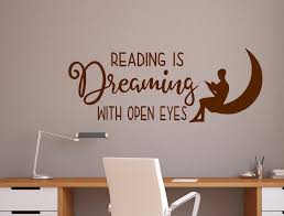 Reading Wall Decal Reading Is Dreaming Decal Library Wall Decal Classroom Decal Reading Is Dreaming With Eyes Open