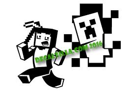 Minecraft Steve And Creeper Decal Sticker