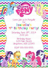 My Little Pony Birthday Invitations My Little Pony Cumpleanos