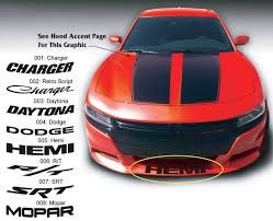 Dodge Charger R T Mopar Daytona Srt Super Bee Front Spoiler Decal Sticker Graphics Fits To