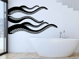 Octopus Tentacles Wall Stickers Kraken Wall Decals Nautical Bathroom Art Nv281 Ebay