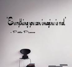 Greatest Quotes Pablo Picasso Wall Vinyl Decal Philosophy Wall Etsy