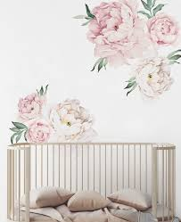 Peony Flowers Wall Sticker Contemporary Wall Decals By Simple Shapes