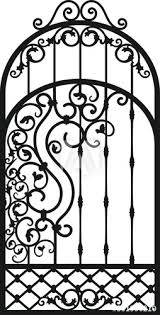 Forged Fence Gothic Door Vector Design Decorative Garden Gate Metal Pattern Or Iron Wicket For Garden Castel Rich Ornament Scroll Work Buy This Stock Vector And Explore Similar Vectors At Adobe Stock