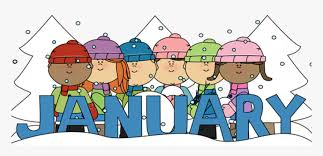 January Month Winter Kids - January Clipart, HD Png Download - kindpng