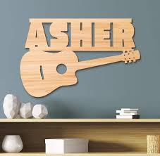 Guitar Kids Room Sign Kids Room Decor Z Create Design