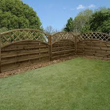 4ft High Mercia Newark Horizontal Weave Dome Fence Panels Elbec Garden Buildings