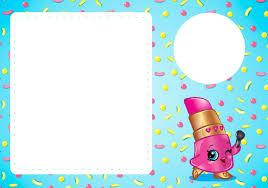 Shopkins Invitaciones Para Imprimir Gratis Ideas Y Material